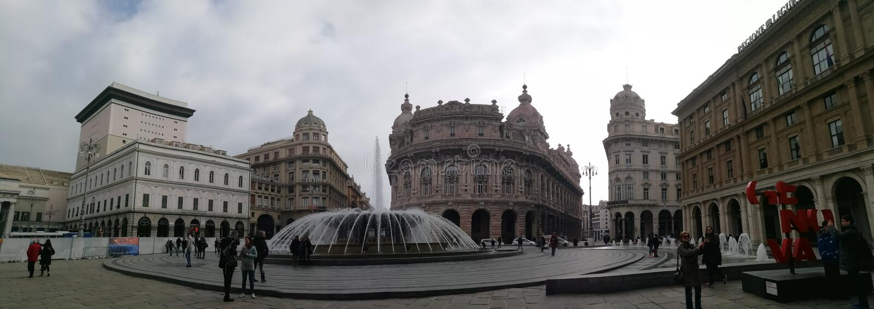 One beautiful day at Genova, Italy stock photography