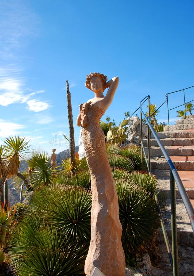 Download One Of The Beautiful Women' Statues In Eze Garden Stock Photo - Image: 24257284