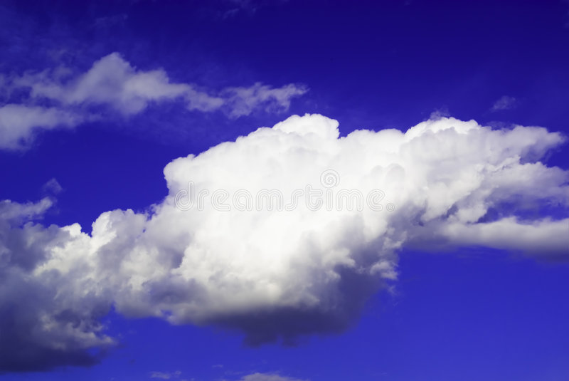 One Big Cloud Isolated In The Stock Photo