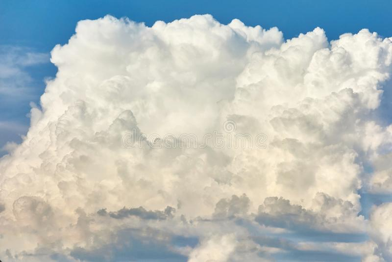 One big white cloud stock photos