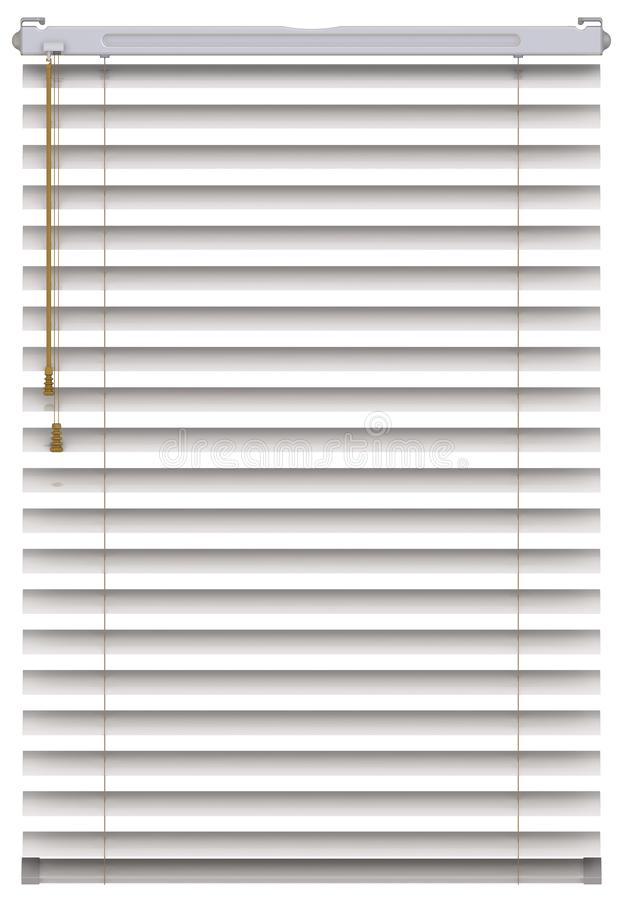 One gray jalousie or blinds. The one blinds isolated on white background. 3D illustration vector illustration