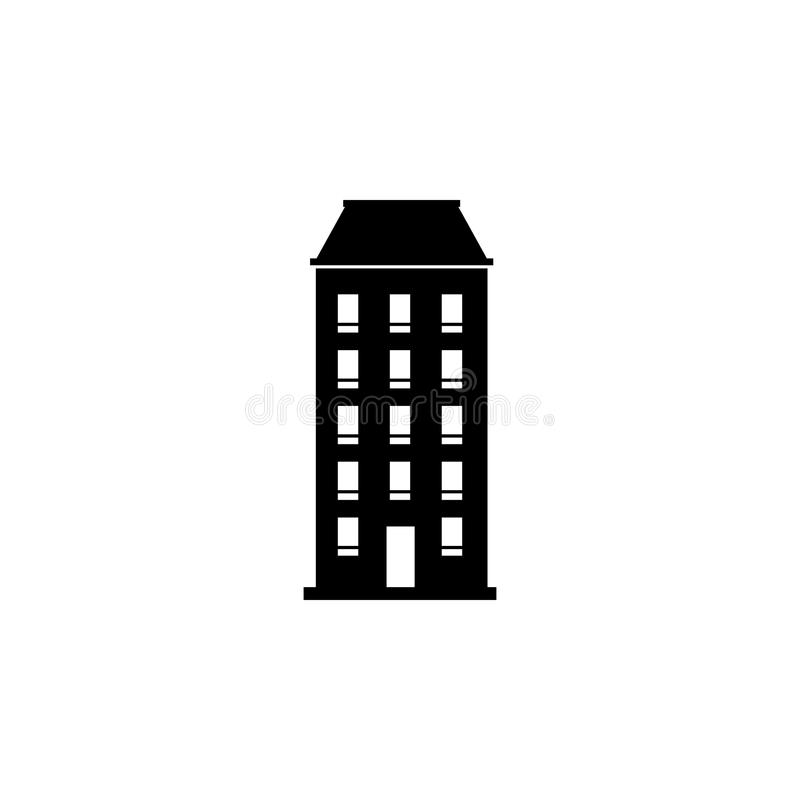 One-block building icon. Element of travel icon for mobile concept and web apps. Thin line one-block building icon can. Be used for web and mobile. Premium icon royalty free illustration