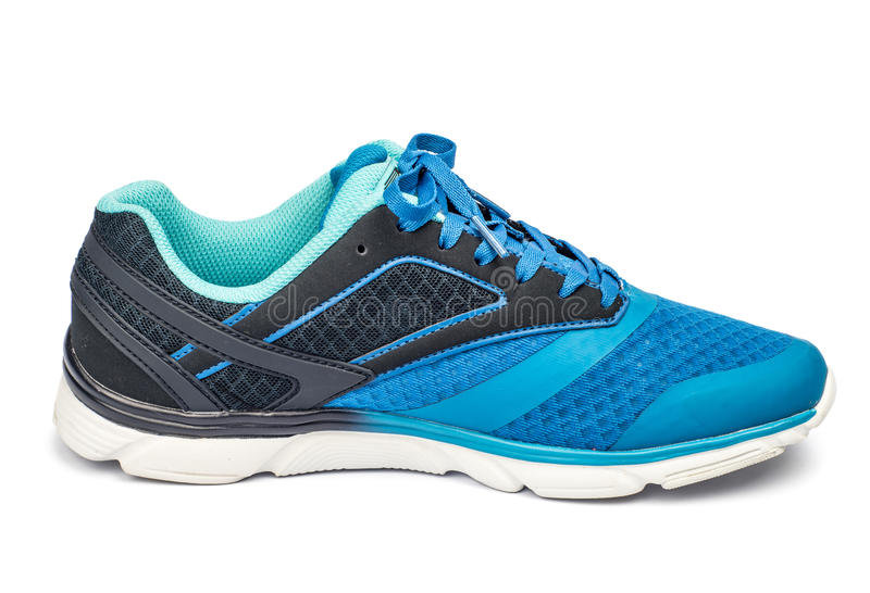 One blue tennis shoe royalty free stock image