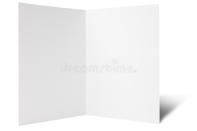 One break fold flyer. Blank one break folded flyer, ready for your own design royalty free stock photo