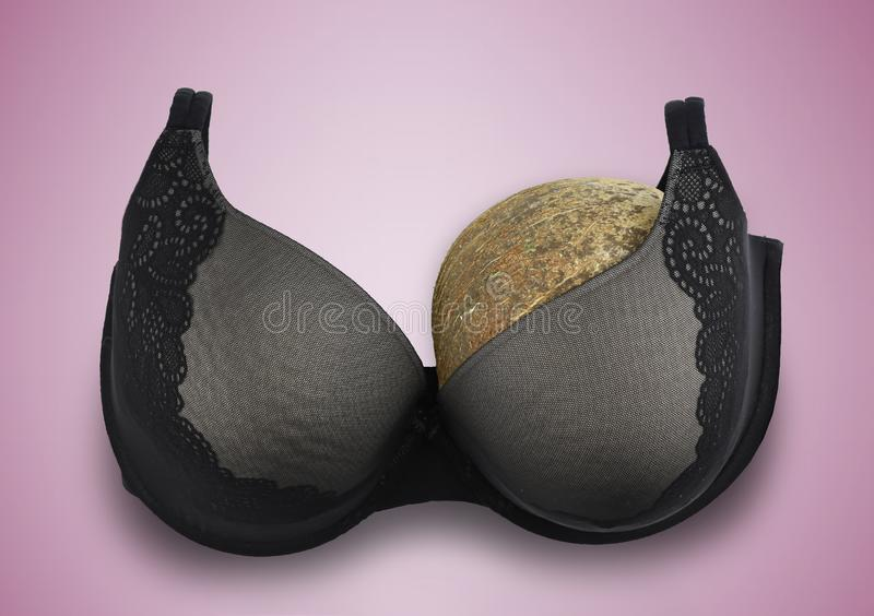 One breast breast cancer concept half empty bra after amputation royalty free stock image