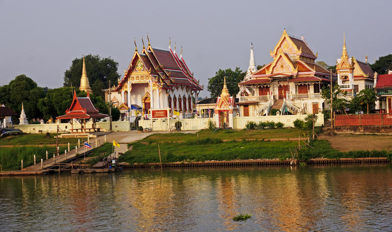 One of the Buddhist temples in Ayutthaya royalty free stock photos