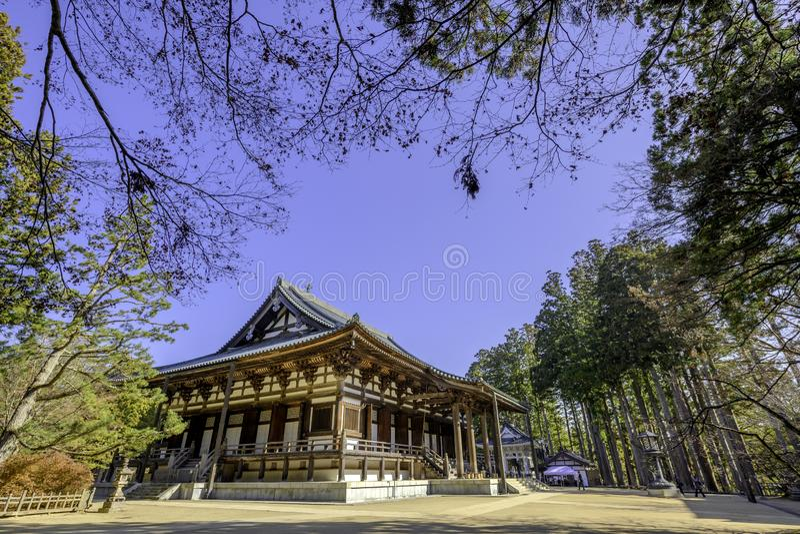 One of the buildings of the Danjo Garan Temple Complex at Mount Koya in Koyasan, Wakayama. Japan stock photography