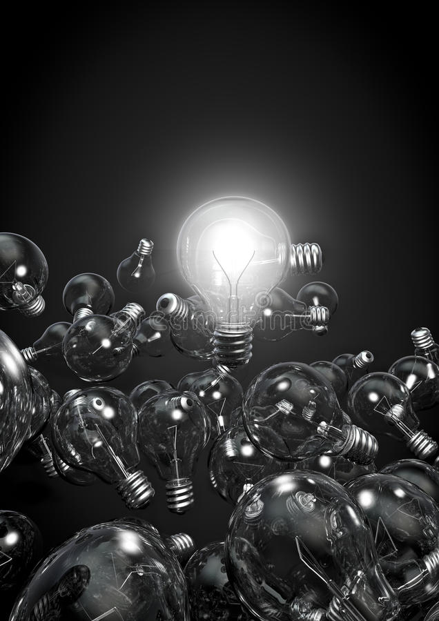 Download One bulb to rule them all stock illustration. Image of electric - 19865333