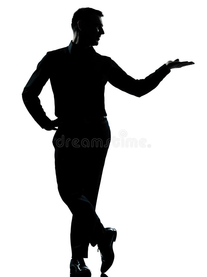Free One Business Man Hand Open Silhouette Royalty Free Stock Photo - 22651045