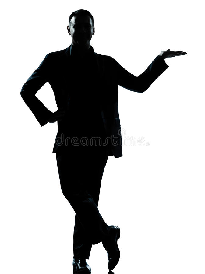 Download One Business Man Hand Open Silhouette Stock Photo - Image: 25981536