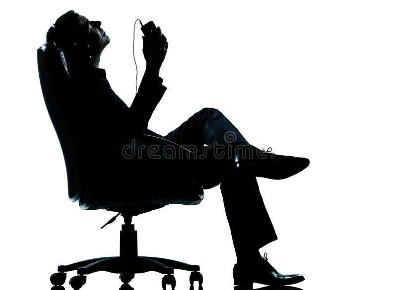 Download One Business Man Listening Relaxation Music Stock Photo - Image: 26424638
