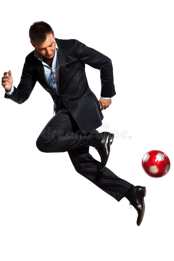 Download One Business Man Playing Juggling Soccer Ball Stock Photo - Image of person, sports: 22477152