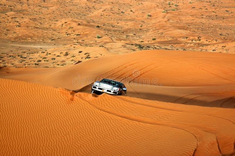 Download One Car In Wild Gold Color Desert, Dune Background Stock Photo - Image: 28746246