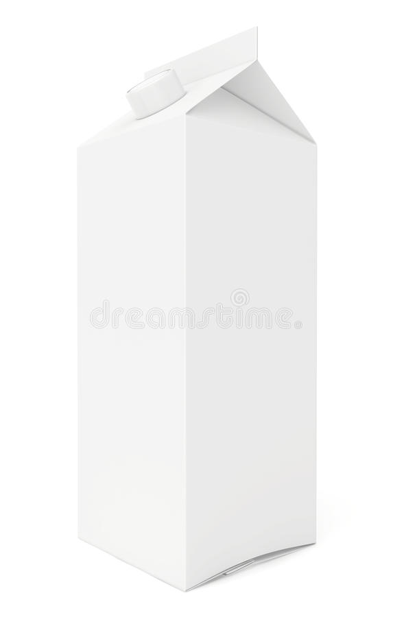 One cardboard package. 3d render on white royalty free illustration