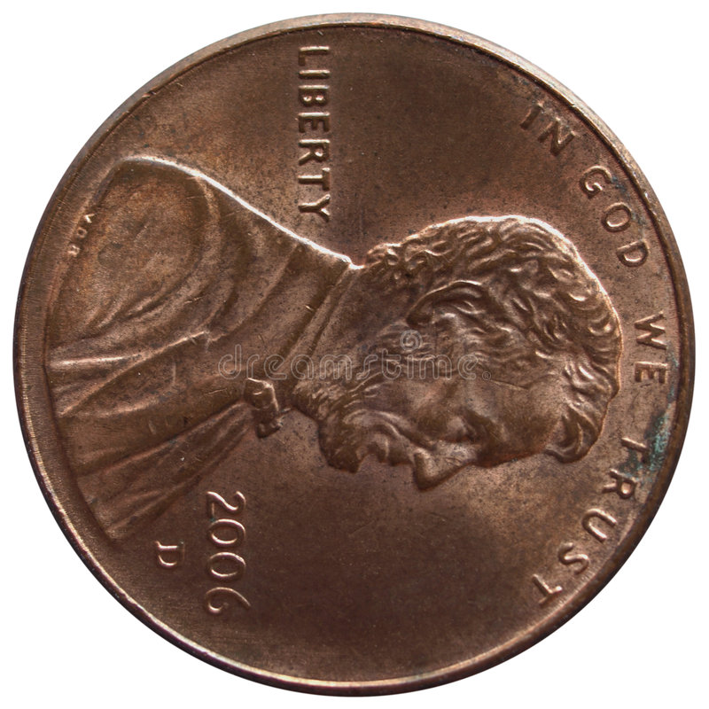 One cent stock image