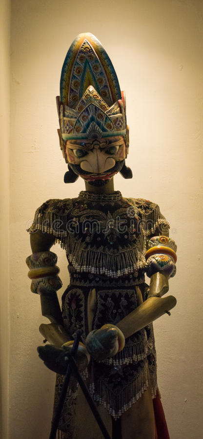 One of character of Wayang Golek as traditional puppet show displayed on museum photo taken in Jakarta Indonesia. Java stock photos