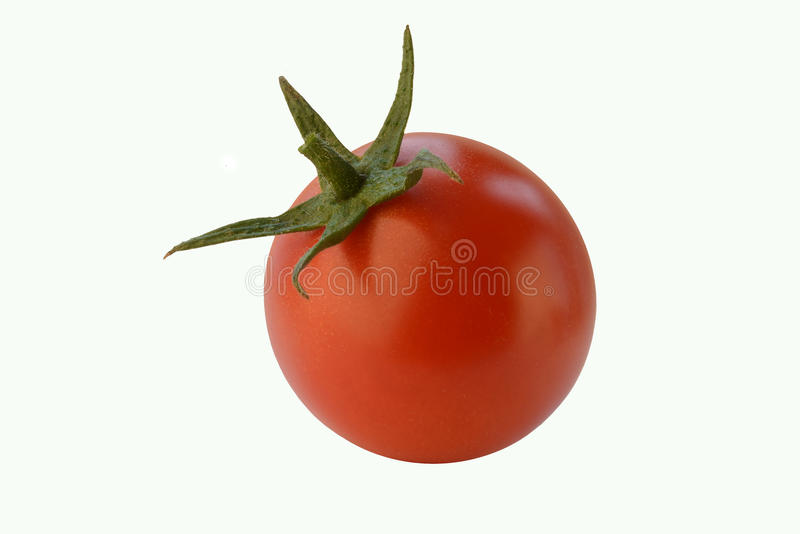 Download One cherry tomato on white stock photo. Image of cherry - 37058716
