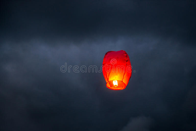 One Chinese Lantern royalty free stock photo