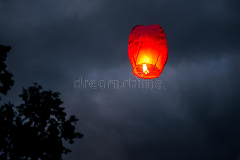 One Chinese Lantern stock images