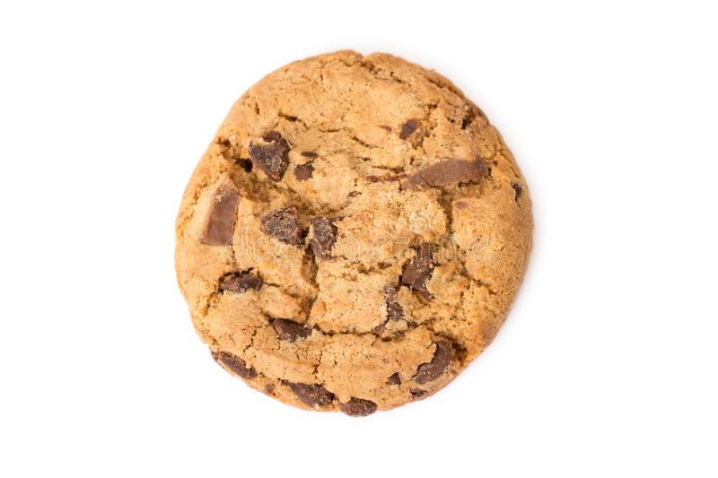 One chocolate cookie stock image