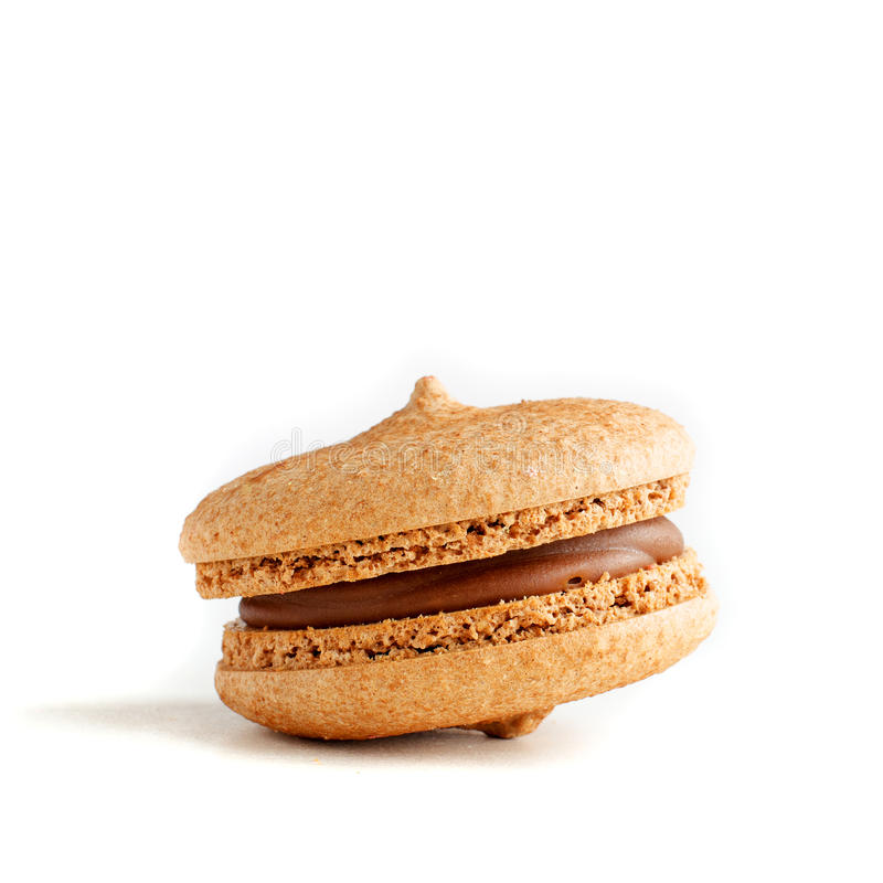 Free One Chocolate Macaroon (almond Cookie) Royalty Free Stock Image - 61980336