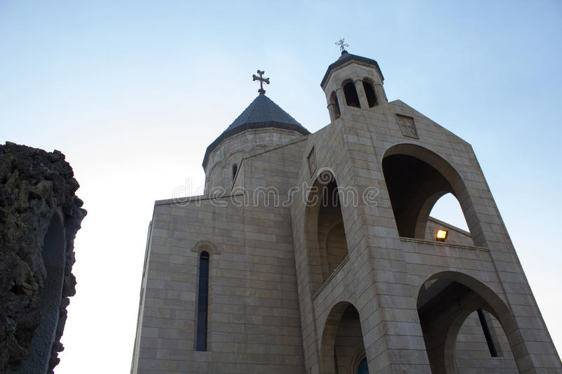 One of chruch in Baghdad. Picture of a church located in the Karrada district of the Iraqi capital Baghdad And frequented by Iraqis Of the Armenians Christian stock image