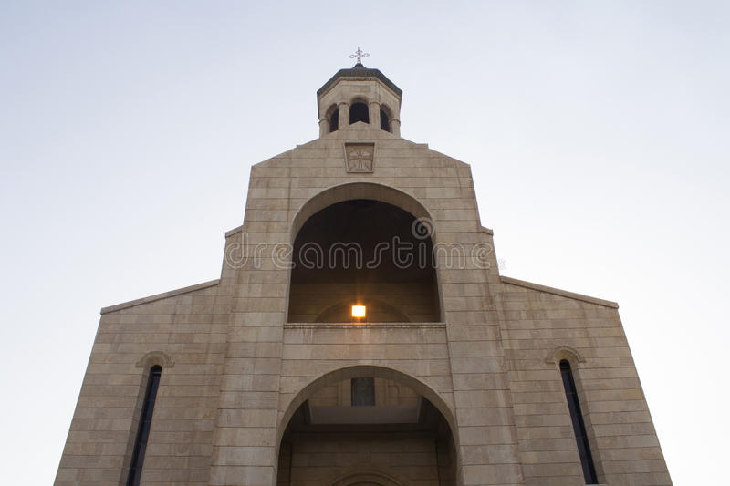 One of chruch in Baghdad. Picture of a church located in the Karrada district of the Iraqi capital Baghdad And frequented by Iraqis Of the Armenians Christian stock photography