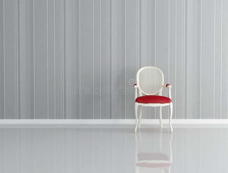 Download One classic chair stock illustration. Image of white - 15856085