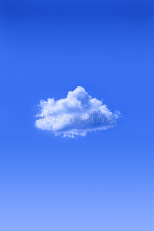 One Cloud Blue Sky royalty free stock photography