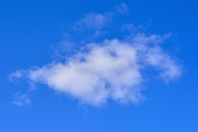 One Cloud Blue Sky stock photography