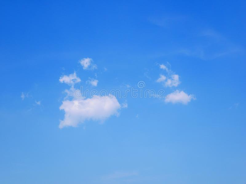 Only one cloud among the blue sky stock images