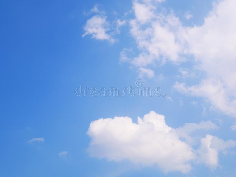Only one cloud among the blue sky royalty free stock photo