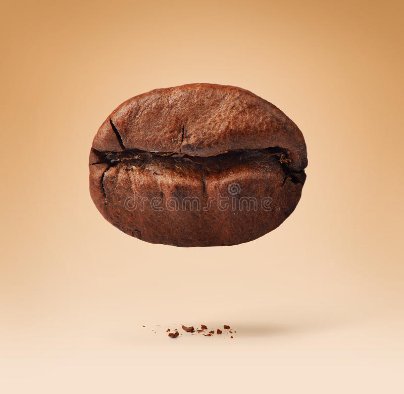 Download One Coffee Bean On Background Stock Image - Image of black, beverage: 39514701