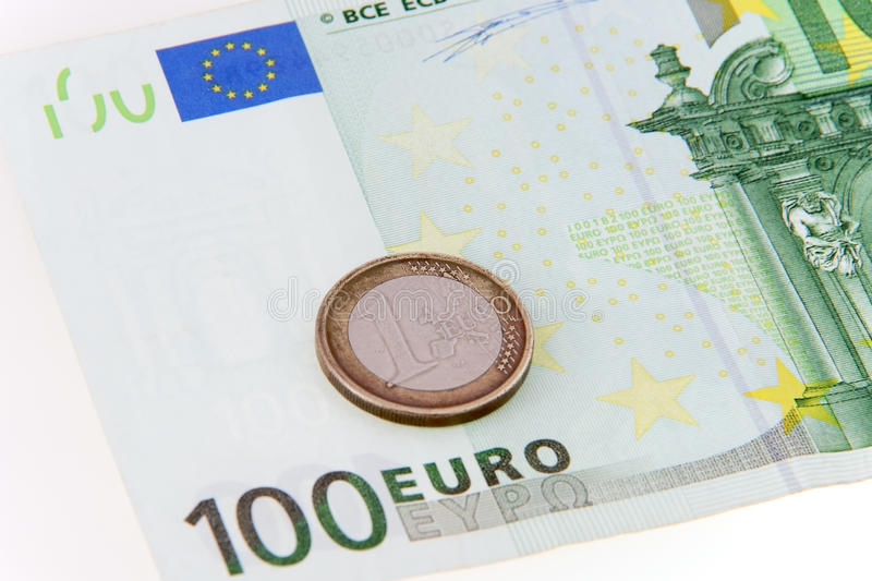 Download One Coin Saving Hundred Euro - Concept Stock Image - Image of coin, cash: 12306529