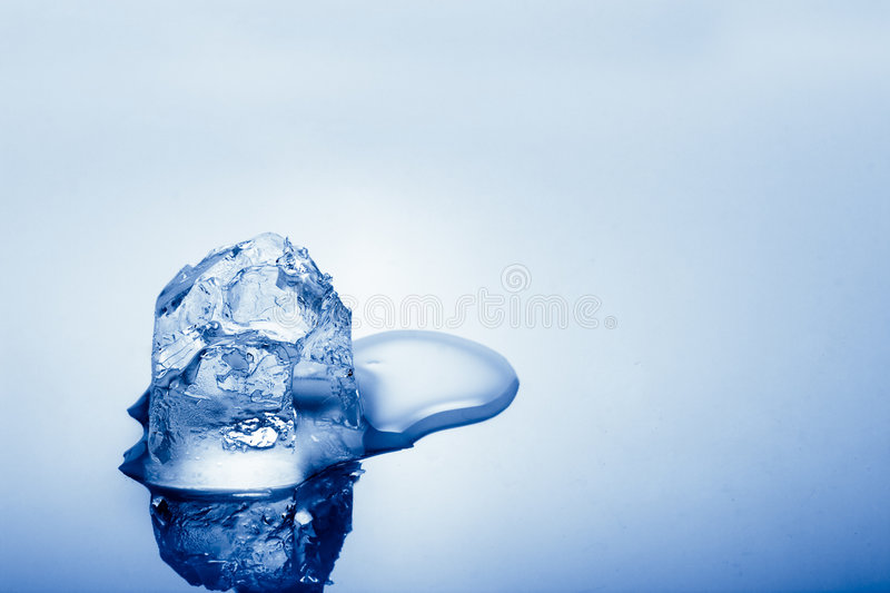 One cold ice cube stock images