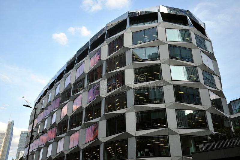 The One Coleman Street office building designed by renowned architects David Walker and Swanke Hayden Connell stock images