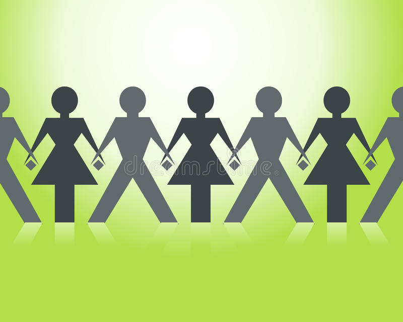 Download One community stock vector. Image of girls, community - 15973479
