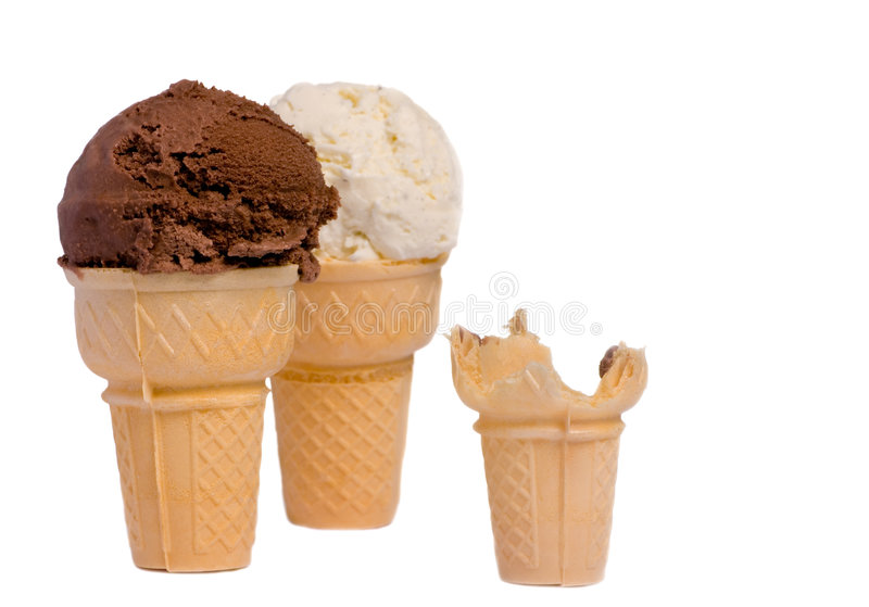 One cone down royalty free stock image
