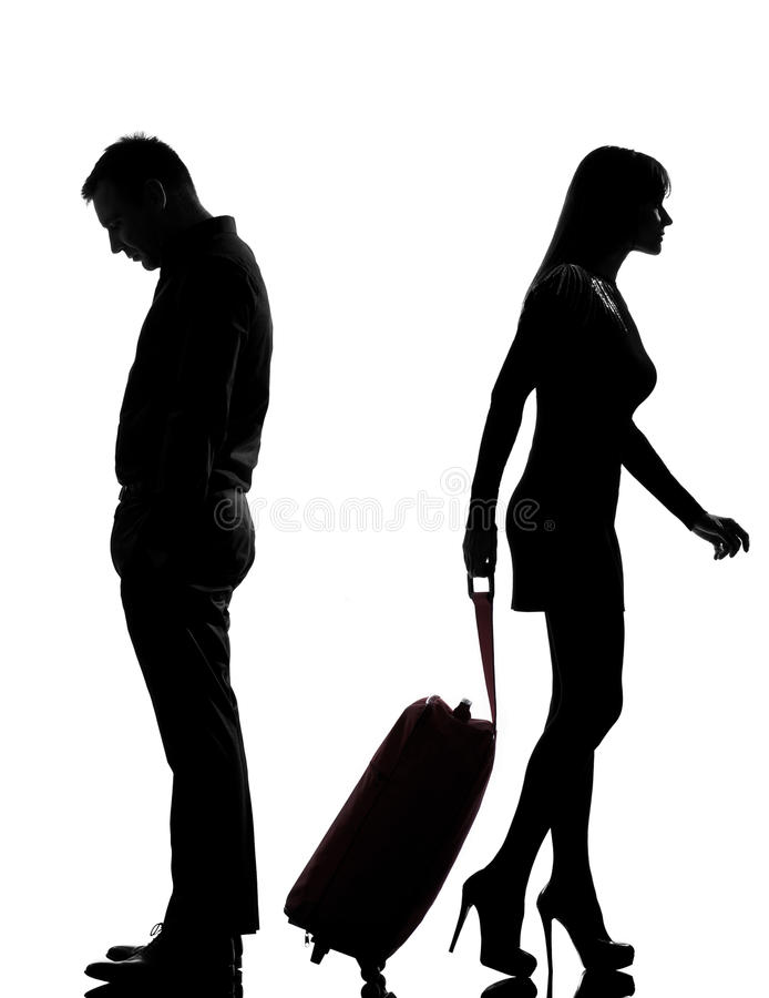 Free One Couple Man And Woman Dispute Separation Stock Images - 26424734