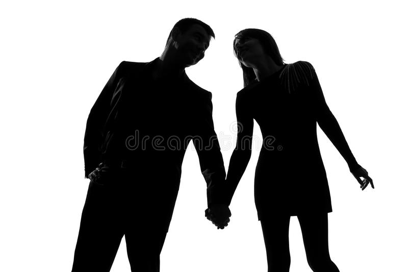 Download One Couple Man And Woman Hand In Hand Stock Photo - Image: 23452074