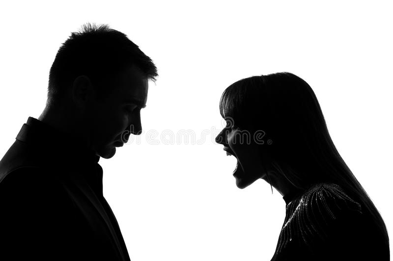 Download One Couple Man And Woman Screaming Shouting Dipute Stock Photo - Image: 21676970