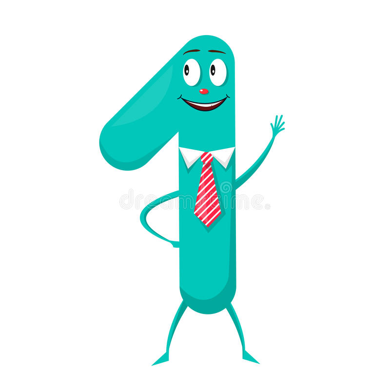 One Cute fun colorful figure in the form of cartoon characters vector illustration
