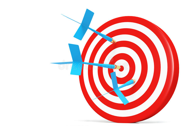 Download One Darts Accurate  In The Target Stock Illustration - Image: 23495805