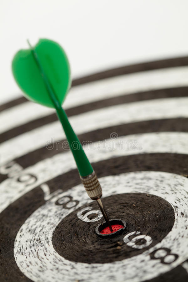 Download One darts on a dartboard stock image. Image of mid, ideas - 27101853