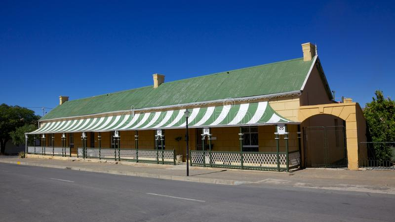Die Tuyshuise. One of Die Tuyshuise, a collection of renovated craftsmen's houses situated in Cradock, in the Great Karoo, Eastern Cape, South Africa stock image
