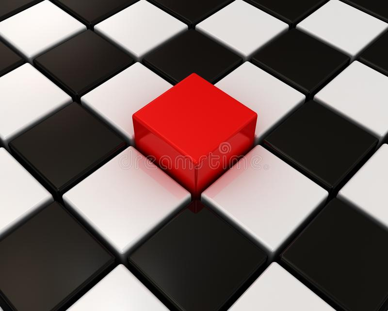 One Different Red Box In Others Royalty Free Stock Images