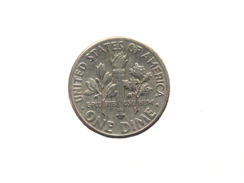 One dime coin royalty free stock photography