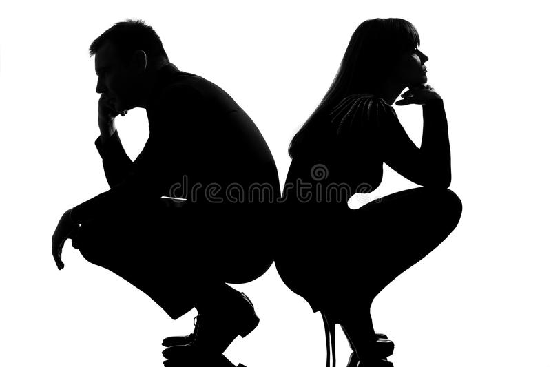 One dispute couple man and woman stock photography