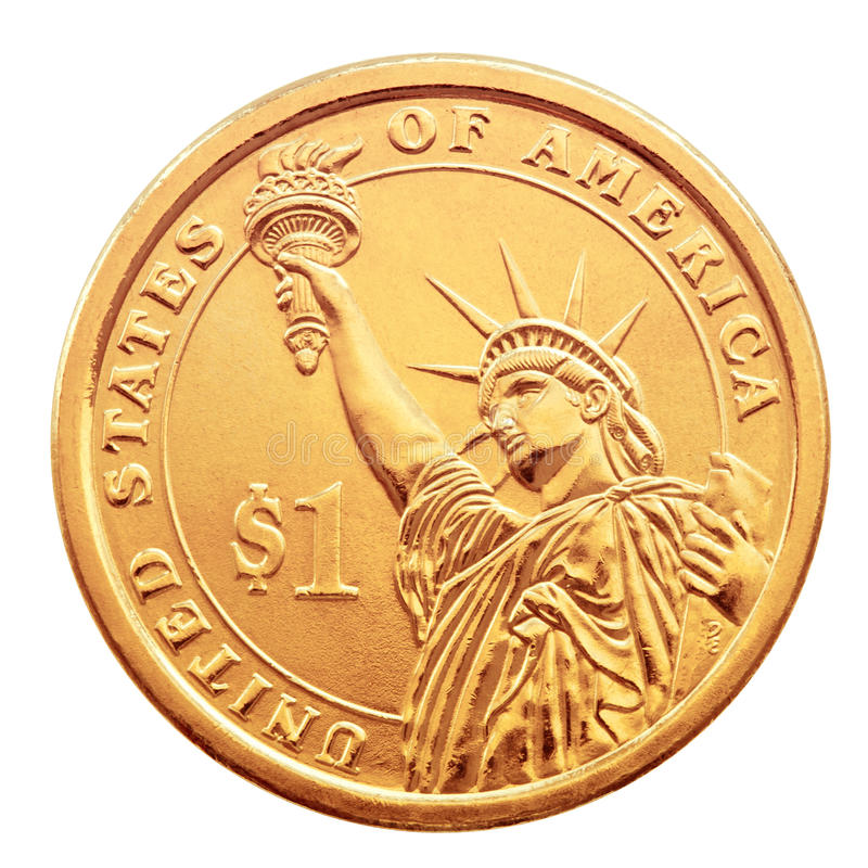 Download One dollar coin. stock image. Image of detail, closeup - 23304589