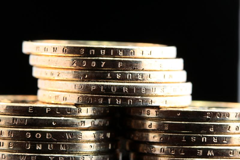 Download One dollar coins stock photo. Image of coinage, tender - 23316900